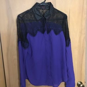 Black and purple blouse